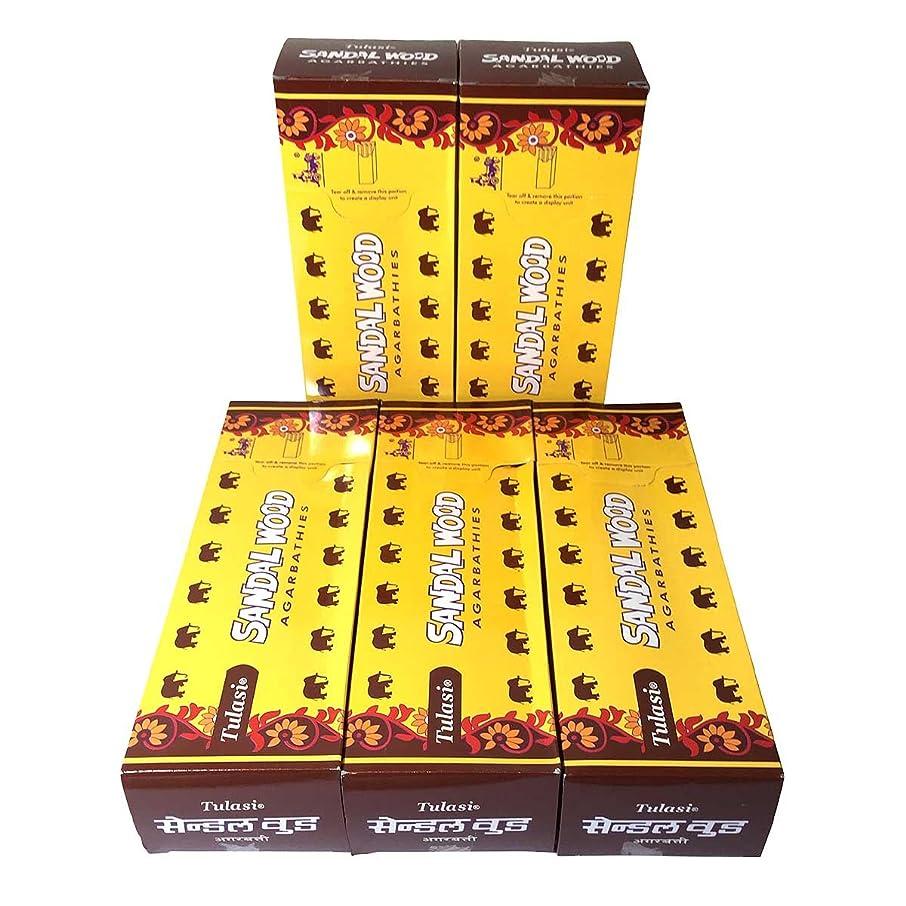 裸嫌がらせ折サンダルウッド香スティック 5BOX(30箱)/TULASI SANDAL WOOD/ インド香 / 送料無料 [並行輸入品]