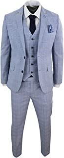 Homme CAVANI Bourgogne vin Carreaux Tweed Formel Mariage Slim Fit 3 Pièce Costume nouveau