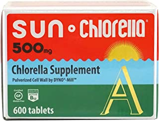 Sun Chlorella - Chlorella Superfood Nutritional Supplement- 500 Mg (600 Tablets)