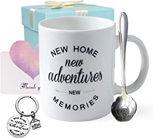Housewarming Gift for New Home Unique First Time House Owner Gift Idea ?for Men and Women House Warming Decoration Gifts for Him Her Couple House Warming Presents for New Home 11oz Coffee Mug Keychain