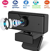 [Fulfilled by Amazon] 1080P HD Webcam, USB PC Streaming Webcam with Microphone, Webcam Camera for Desktop Laptop PC Mac Video Calling Conferencing Recording