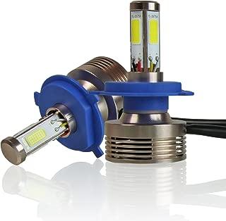 Optix 120W 12000LM LED Headlight Conversion Kit - H4 (HB2, 9003) Dual Hi/Lo Beam Bulbs - 6000K 6K Diamond White - Premium 4-Sided Epistar COB Chip - 360 Light Plug and Play Design - 1 Pair
