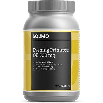 Marchio Amazon- Solimo Integratore alimentare di olio di enotera 500 mg con vitamina E, 365 capsule