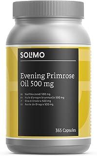 Marca Amazon - Solimo Complemento alimenticio a base de aceite de onagra 500 mg con vitamina