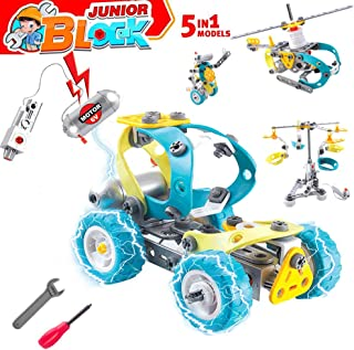 Gili STEM Toys for 6, 7, 8, 9 Year Old Boys & Girls, Construction Engineering Learning Building Sets, 5 in 1 Motorized Robotics Kit for Age 6yr-10yr, Best Top Birthday Christmas Funny Gifts for Kids
