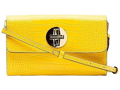 Frances Valentine Kelly Bright Croc Crossbody (Yellow) Cross Body Handbags