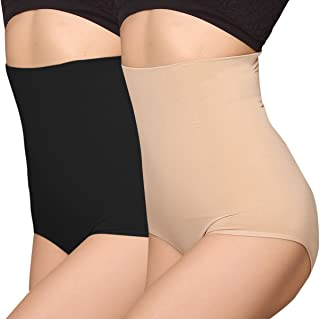 iLoveSIA Women's Hi-Waist Control Underwear with Waist Cincher Shapewear
