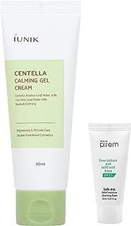 iUNIK Centella Calming Gel Cream 60ml with MAKEP:REM Safe me. Relief Cleansing Foam mini | Korean Skin Care