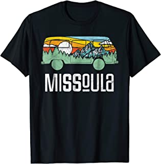 Retro Missoula Montana Outdoor Hippie Van Nature T-Shirt