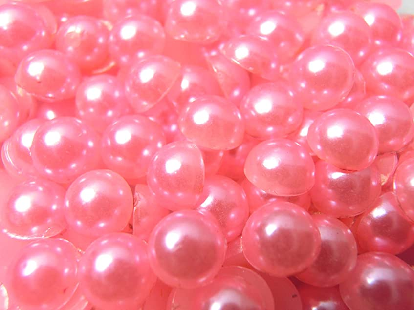 暗くする自由爪【ラインストーン77】超高級 パールストーン ピンク 各サイズ.選択可能 (5mm (約80粒))