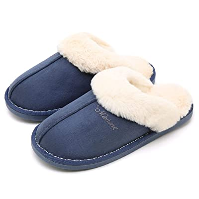 SOSUSHOE Womens Slipper, Fluffy Slip On House S...