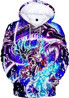 Teen's Fashion Hoodies Japanese Anime Pullover Sweatshirt with Dragon Ball for Boys Girls