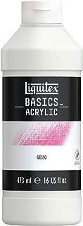 LIQUITEX- Médium de Preparación de Superficie Gesso Basics, 473 ml (Colart 104016)