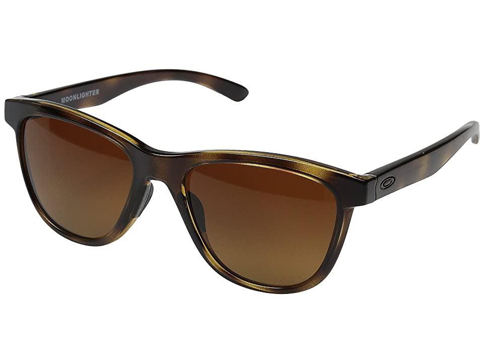 Oakley Moonlighter (Tortoise/Brown Gradient Polarized) Plastic Frame Fashion Sunglasses