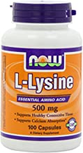 Now L-Lysine 500mg, 100 Capsules (Pack of 3)