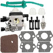 Kuupo C1Q-S97 FS 55R Carburetor with Air Filter Tune Up Kit for STIHL Trimmer FS38 FS45 FS46 FS55 FS55R KM55 C1Q-S186A ZAMA Carb 4140-120-0619