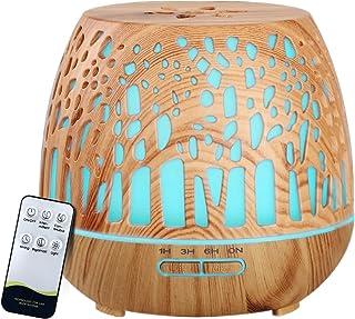 Devanti Aroma Diffuser Aromatherapy Air Humidifier Essential Oil Ultrasonic Cool Mist Wood Grain Remote Control 400ml