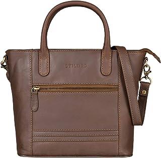 """STILORD Meghan"""" Leder Handtasche Damen Umhängetasche Klein Ledertasche für Frauen zum Umhängen und Ausgehen Elegante Schultertasche Henkeltasche Echtleder"""