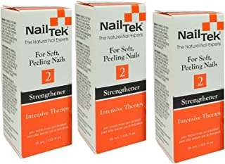 Nail Tek #2 Strengthener Intensive Therapy For Soft Peeling Nail - Size 0.5oz/15ml (Pack 3)