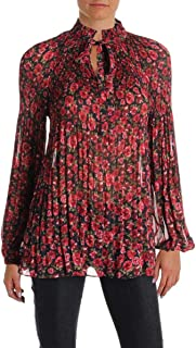 Womens Relaxed Fit Knit Blouse