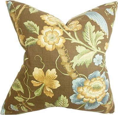 Amazon.com: Conjunto de 2 Art Nouveau Tile Flor Funda de ...