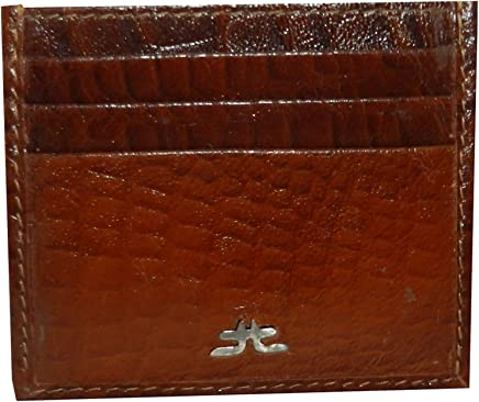 Laveri Bill And Card Holder For Unisex - Leather, Brown