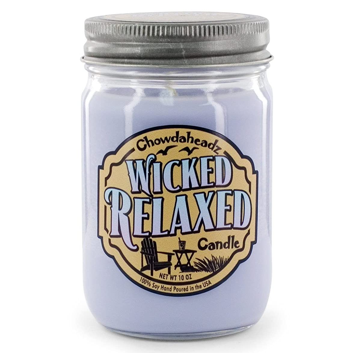 失われた正気キャラクターWicked Relaxed Candle 100?%大豆、すべての自然、Made in the USA by Chowdaheadz