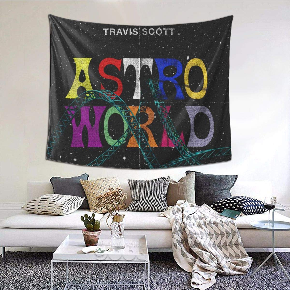 Coolertaste Astroworld Poster Tapestry Wall Hanging For Living Room Bedroom Dorm Room Home Decor 60 X 51 In Amazon Com Au Miscellaneous