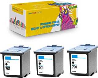 New York TonerTM New Compatible 3 Pack CC635A HP 701 High Yield Inkjet for HP FAX : FAX 640   FAX 650   FAX 2140 - Black