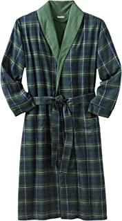 Men's Big & Tall Jersey-Lined Flannel Robe