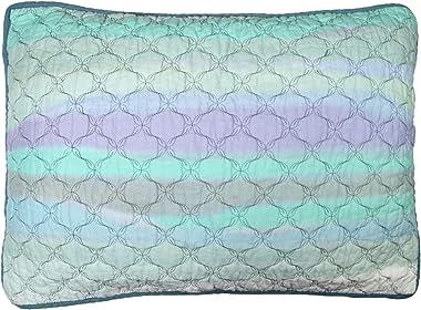 Donna Sharp Pillow Sham - Summer Surf Coastal Decorative Pillow Cover with Blue Pattern - Standard