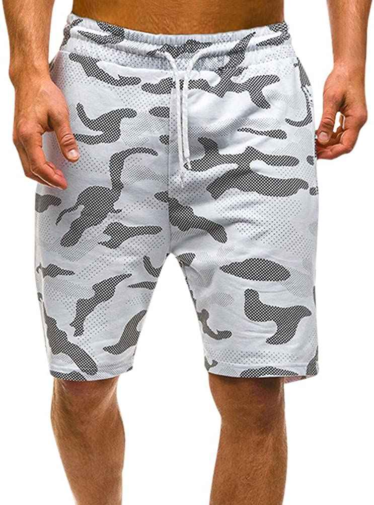 Misaky Men's Summer Casual Comouflage Cargo Shorts Pants
