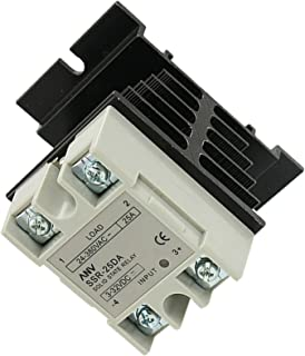 Ogrmar SSR-25 DA 25A 3-32V DC / 24-380V AC Solid State Relay and Heat Sink