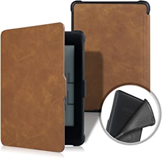 Kindle Paperwhite Case, MOKASE Premium Leather Magnetic Protective Case Cover for Amazon Kindle Paperwhite 1 2 3 (Fits 2012,2013,2015,2016 Ver) with Auto Wake Sleep, Brown