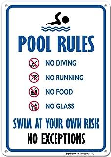 Best cute pool rules signs Reviews