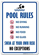 no running by the pool