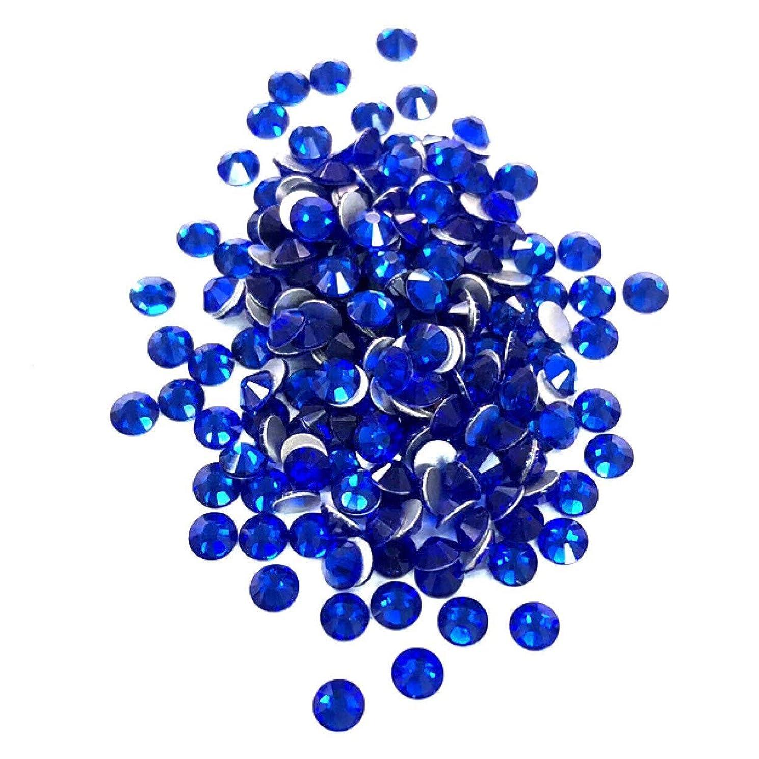 ガラガラ含意放射する【ネイルウーマン】最高品質ガラスストーン!スワロ同等の輝き! サファイア ブルー 青色 (約100粒入り) (サファイア) (SS3, サファイア)