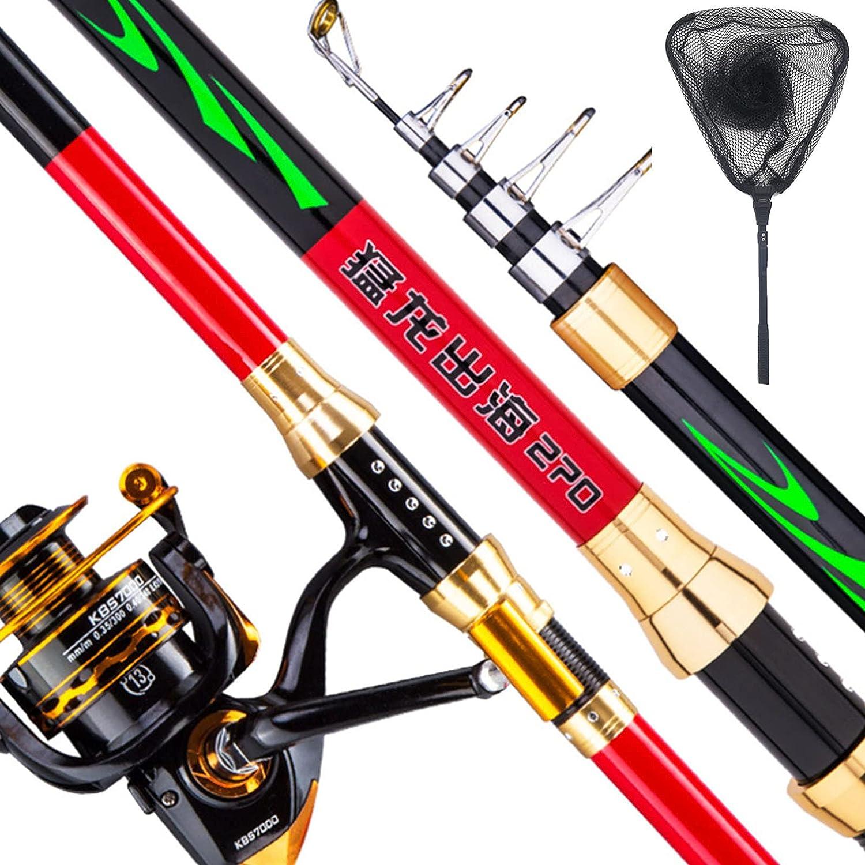 CHJAA Fishing Rod Set Telescopic Landing Net L Max 49% OFF Deluxe