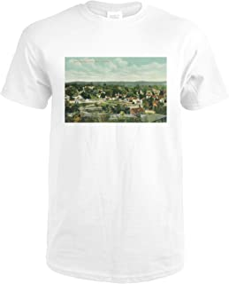 Paso Robles, California - Aerial View of the City 12063 (Premium White T-Shirt XX-Large)