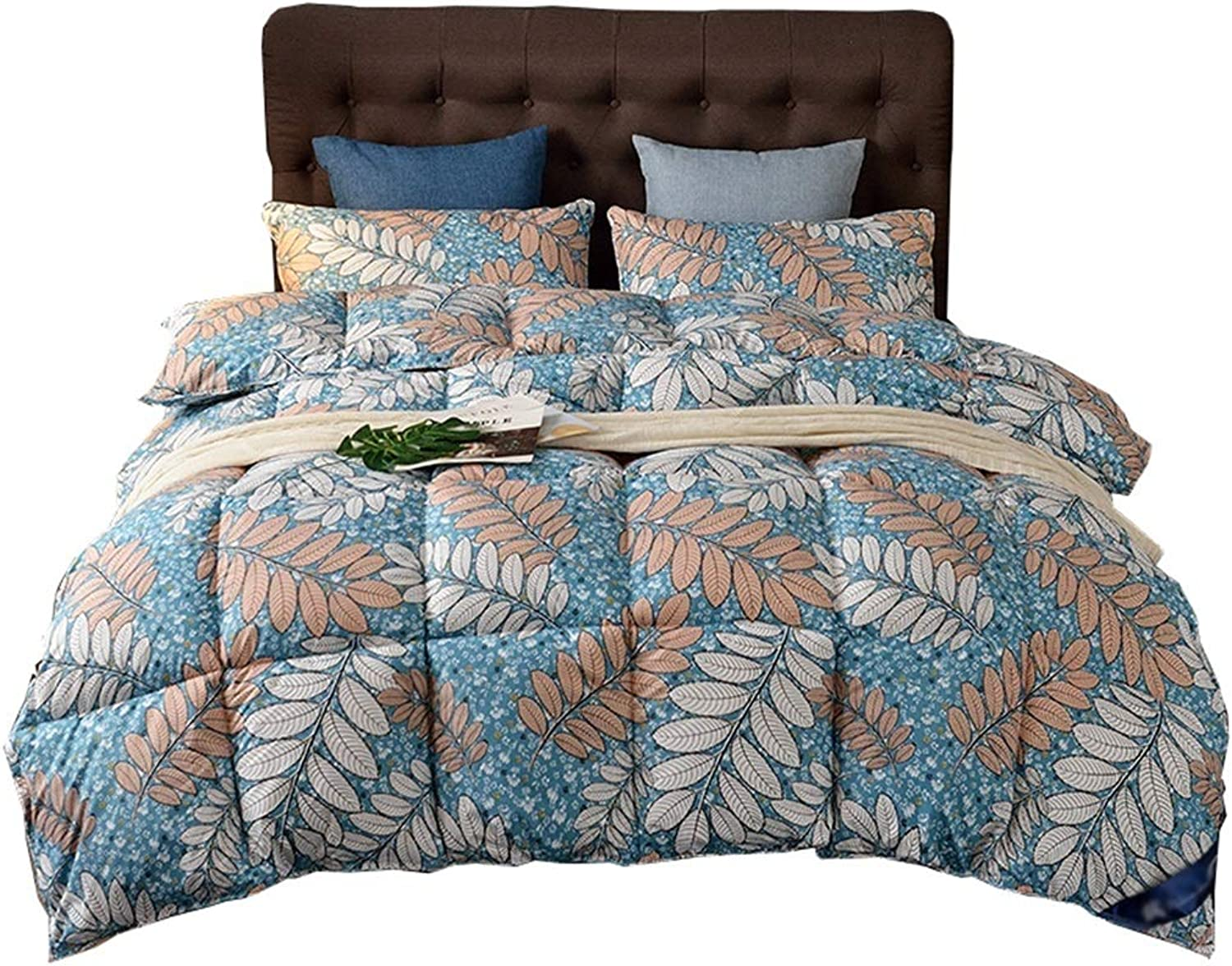 Warm Quilt Retro Duvet Spring Autumn Winter Thickening Warm Single Double Bed Supplies - Comforter Family Student Dormitory - Pure Cotton Fabric Fashion Printing Quilt Antiallergic Quilt