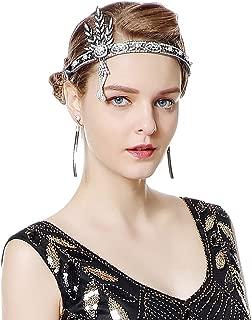 Radtengle 1920s Flapper Headband Great Gatsby Themed Rhinestone Crystal Pearl Wedding Hair Accessories Headpiece