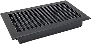 Madelyn Carter Contemporary Floor Registers Flat Black