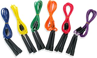 American Educational Products Adjustable Length Jump Ropes, Assorted Colors, Set of 6