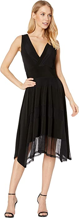 Stretch Lace Asymmetrical Hem Dress