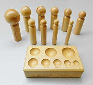 Dapping Block and Punches Wooden Set 10 Sizes Wood Forming Doming Jewelry Making (3.2PP)