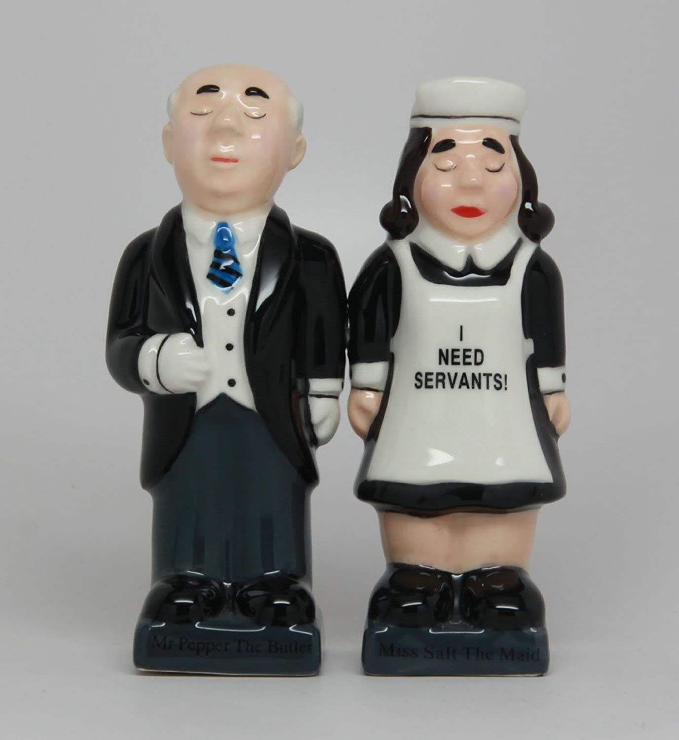 Salt & Pepper Shakers Set  BUTLER AND MAID New Ceramic Kitchen Gifts 9475