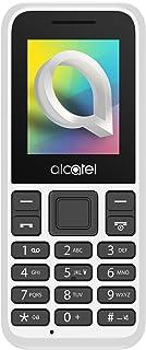 """Alcatel 1066D - Telefono móvil de fácil uso, Pantalla de 1.8"""" QQVGA, 2G, cámara trasera CIF, 4MB de RAM, 4MB de ROM, batería 400mAh (Blanco)"""