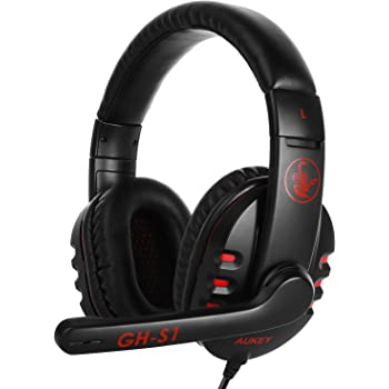 AUKEY Auriculares Gaming con Micrófono Giratorio 160° Dolby 7,1 ...