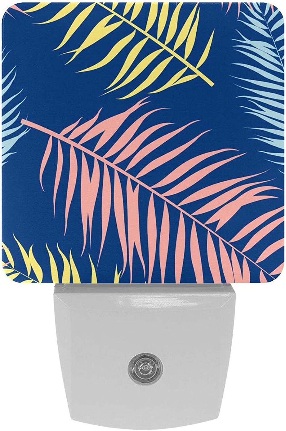 It is very popular 2 New item Pack Plug-in Nightlight LED Night Tropical Leaves Light Palm w