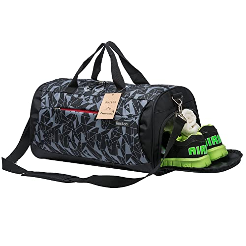 4ce9d61851 Kuston Sports Gym Bag with Shoes Compartment Travel Duffel Bag for Men and  Women